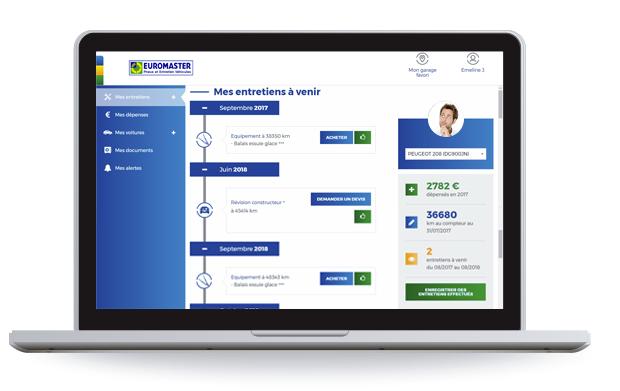 Euromaster, carnet d'entretien en ligne