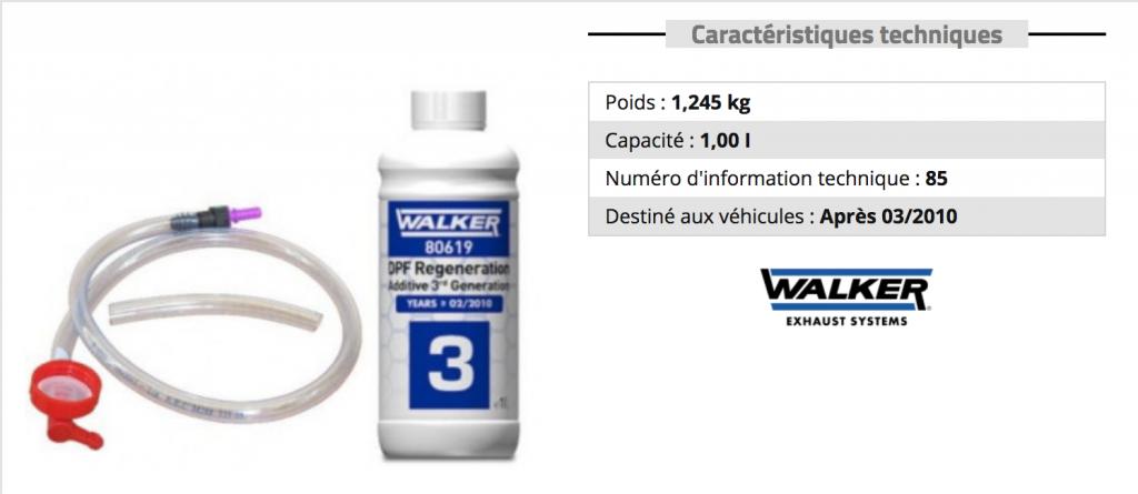 additif filtre a particule pas cher